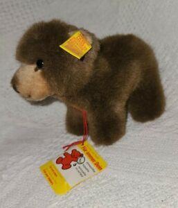 "Steiff Browny the Bear, 5"" Tall, #1444/12, All Tags Intact"