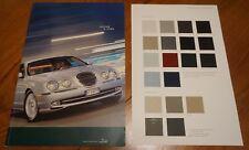 Jaguar S-Type 2000 2001 2002 Brochure 3.0 V6 & SE 4.0 V8 & Sport & Colours Card