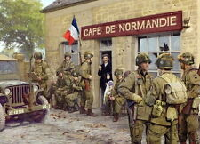 Easy Company 101st Airborne Cafe Normandie Carentan D-Day large poster