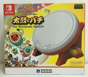 IN HAND HORI TAIKO NO TATSUJIN Drum & BACHI set Nintendo Switch JP Priority Ship
