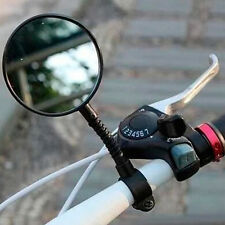 Bike Bicycle Cycling Rear View Mirror Handlebar Glass Safety Rearview Flexible