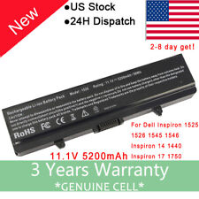 NEW Battery For DELL Inspiron 1440 1525 1526 1545 1750 X284G GW240 K450N 58Wh F