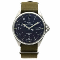 Glycine Combat 6 Vintage Steel Black Dial Automatic Mens Watch GL0122