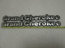 Jeep Grand Cherokee Chrome Script Emblem Badge 93-98 OEM Mopar Side Fender-PAIR