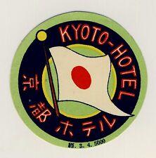 "Imperial Hôtel tokyo nippon Japon * Old Luggage label valise autocollant ""s"""