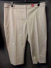 "212 COLLECTION CURVY FIT ""STRING"" TAN ankle capri pants plus size 24W NWT #792"