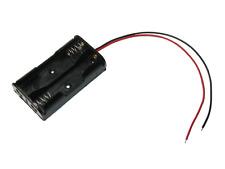Batteriehalter AA Mignon 2 x 1,5V mit 15cm Kabel rot schwarz Batteriefach