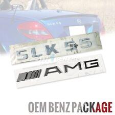 GENUINE OEM MERCEDES BENZ SLK55 AMG SET CHROME REAR BOOT EMBLEM BADGE GERMANY