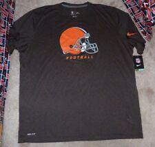 NEW NIKE NFL Cleveland Browns Football T Shirt 2XL XXL Dri Fit NEW NWT