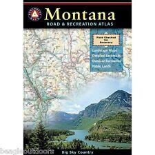 National Geographic Benchmark Montana Road & Recreation Atlas Map BE0BENMTAT