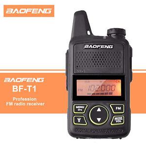 Baofeng BF-T1 UHF 400-470Mhz Walkie Talkie Radio Portatili Ricaricabile Due Vie