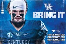 2019 KY University of Kentucky Wildcats Football Schedule/Poster Kash Daniel