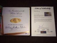 Hillary Clinton Signed Autograph Invitation to the White House Book PSA/DNA LOA