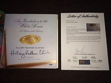 Hillary Clinton Signed Autograph Invitation to the White House Book PSA/DNA LOA