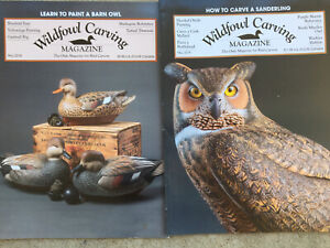 WILDFOWL CARVING MAGAZINES Fall 2018 & Fall 2019