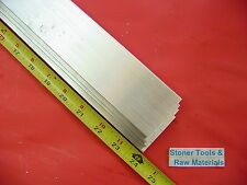 "4 Pieces 1/8"" X 2"" ALUMINUM 6061 FLAT BAR 24"" long .125"" Plate New Mill Stock"