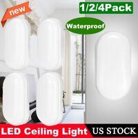 20W LED Oval Bulkhead Wall Light Neutral White Outdoor Garden Waterproof Lamp US