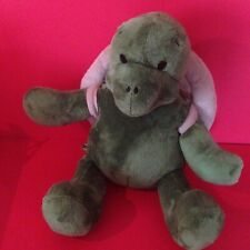 Build-A-Bear Plush Green Turtle with Removable Shell Backpack