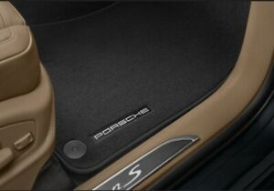 2015 - 2020 Porsche Macan Set 4Ps Floor Mat Black Logo OEM 95B.864.435.D 0S5 New