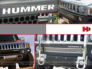 DKM | CHROME FRONT BUMPER LETTERS FOR HUMMER H3 ACCENT INSERTS NOT DECALS