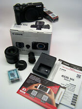 NEW in Box Canon EOS M6 Mark II Mirrorless Digital Camera Lens Viewfinder Kit