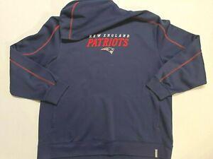 Reebok NFL New England Patriots Fleece Hoodie Sweatshirt Men's 2XL