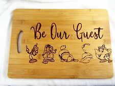 Be our guest wooden chopping / cutting / cheese board beauty and the beast gift