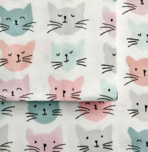 Cat Lover Christmas Gift Cuddl Duds Cats Twin Heavyweight Flannel Sheet Set