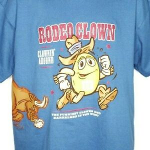M&Ms Rodeo Clown T Shirt Vintage 90s All Over Print Wrap Around Made In USA Lrg