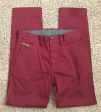 Diesel Mens CHI-REGS-A Trousers Size 26 Mahogany