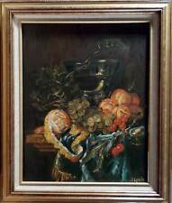 Dutch Still Life with Fruits - Oil Painting in Frame by artist Oleg Levin