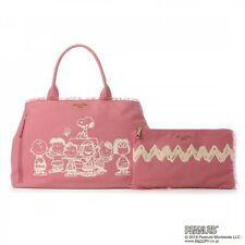 NEW! Samantha Thavasa Deluxe Peanuts Snoopy Friends Canvas Tote Bag Clutch Pouch