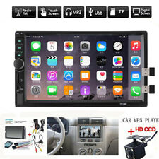 7 Double 7018B 2 DIN Car GPS Radio MP5 Player Touch Screen Bluetooth+Rear Camera