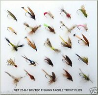 25 BARBLESS Trout Fly Fishing Flies Dry Wet Nymph Buzzers 25-B- BAR-BLESS -12