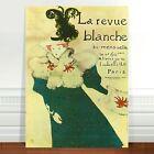 "Stunning Vintage French Poster Art ~ CANVAS PRINT 36x24"" La Revue Blanche"