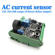 AC 0-20A AC Current Sensor To Detect the Full Range Linear Output Delay Socket
