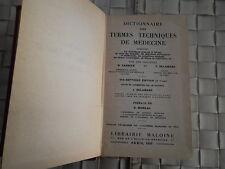 DICTIONNAIRE DES TERMES TECHNIQUES DE MEDECINE 17e EDITION