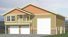 44x48 Apartment with 2-Car 1-RV Garage - PDF FloorPlan - 1,645 sqft - Model 5S