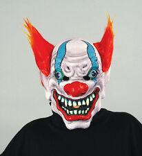 BEZERK THE CLOWN Scary Halloween Latex Mask with Multicolor Hair - NEW