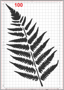 Large Fern Leaf Stencil MYLAR A4 sheet strong reusable Wall Art Craft Wall Deco