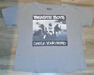 Vintage Beastie Boys Check Your Head  Rock Band Distressed T-Shirt Tee Womens XL
