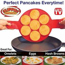 Non Stick Pancake Pan Flip Perfect Breakfast Maker Egg Omelette Flipjack Tools