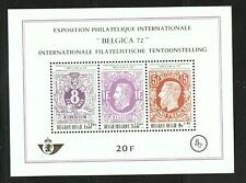 Belgium 1970 Belgica 72 International Philatelic Exhibition Mnh S/S Sc # B863