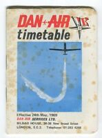 DAN AIR TIMETABLE MAY 1969