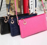 Women Messenger Bag PU Leather Crossbody Satchel Tote Clutch Shoulder Handbag