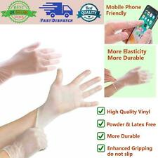 Disposable Vinyl Gloves Powder & Latex Free Work Strong Tattoo Food Nitrile
