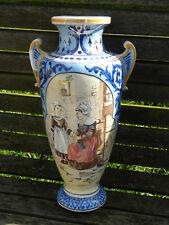 DESVRES - Géo Martel - Imposant vase scène bretonne (Porquier) et Blason Dinard