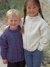 "989 Boys & Girls Chunky Sweater 22-32"" Vintage Knitting Pattern"