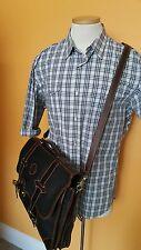 Roots Canada Leather Messenger Briefcase Bag Shoulder Bag