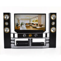 Hi-Fi TV Cabinet Set Combo for Blythe Barbie Doll's Living Room House Furniture
